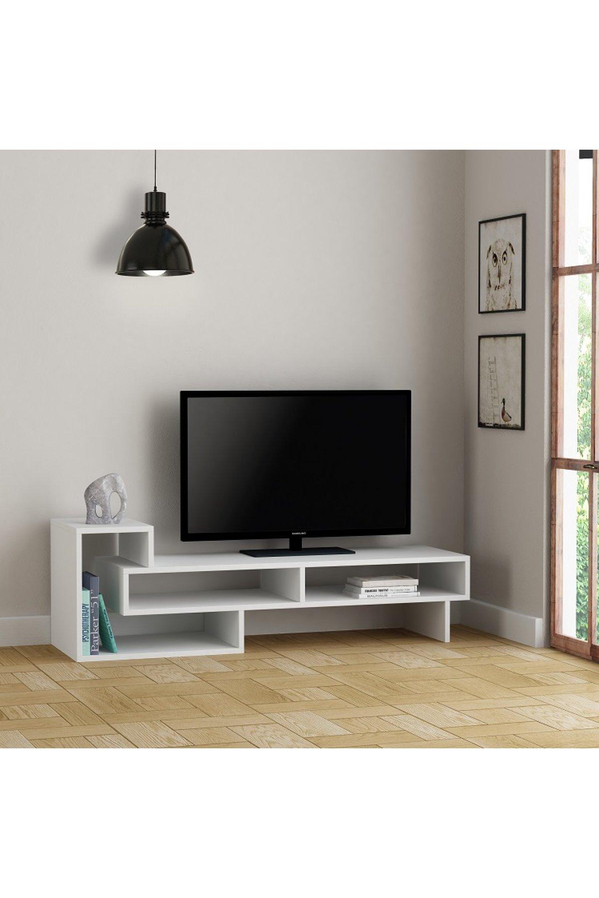 Evsimo Alfa TV Sehpası Beyaz
