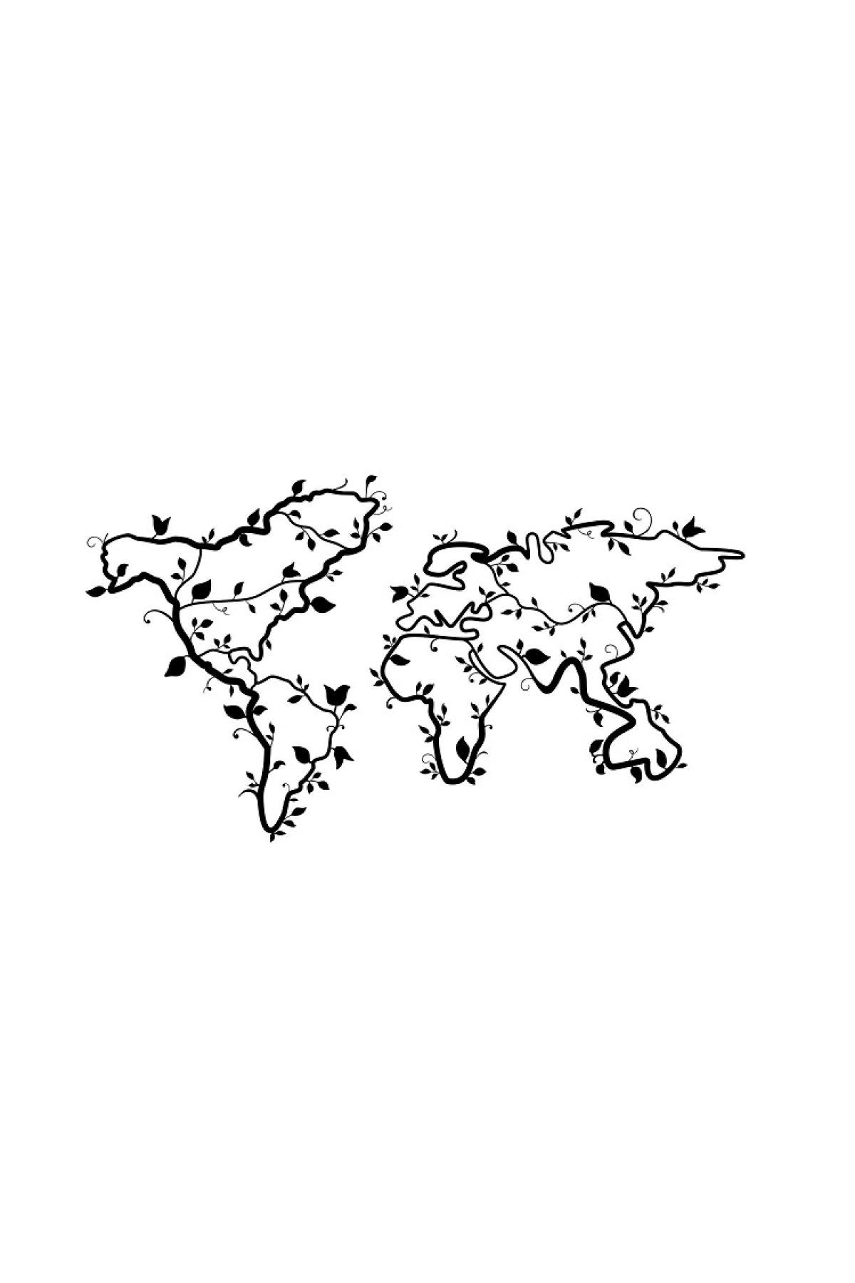 Evsimo Metal Tablo Çiçek Dünya
