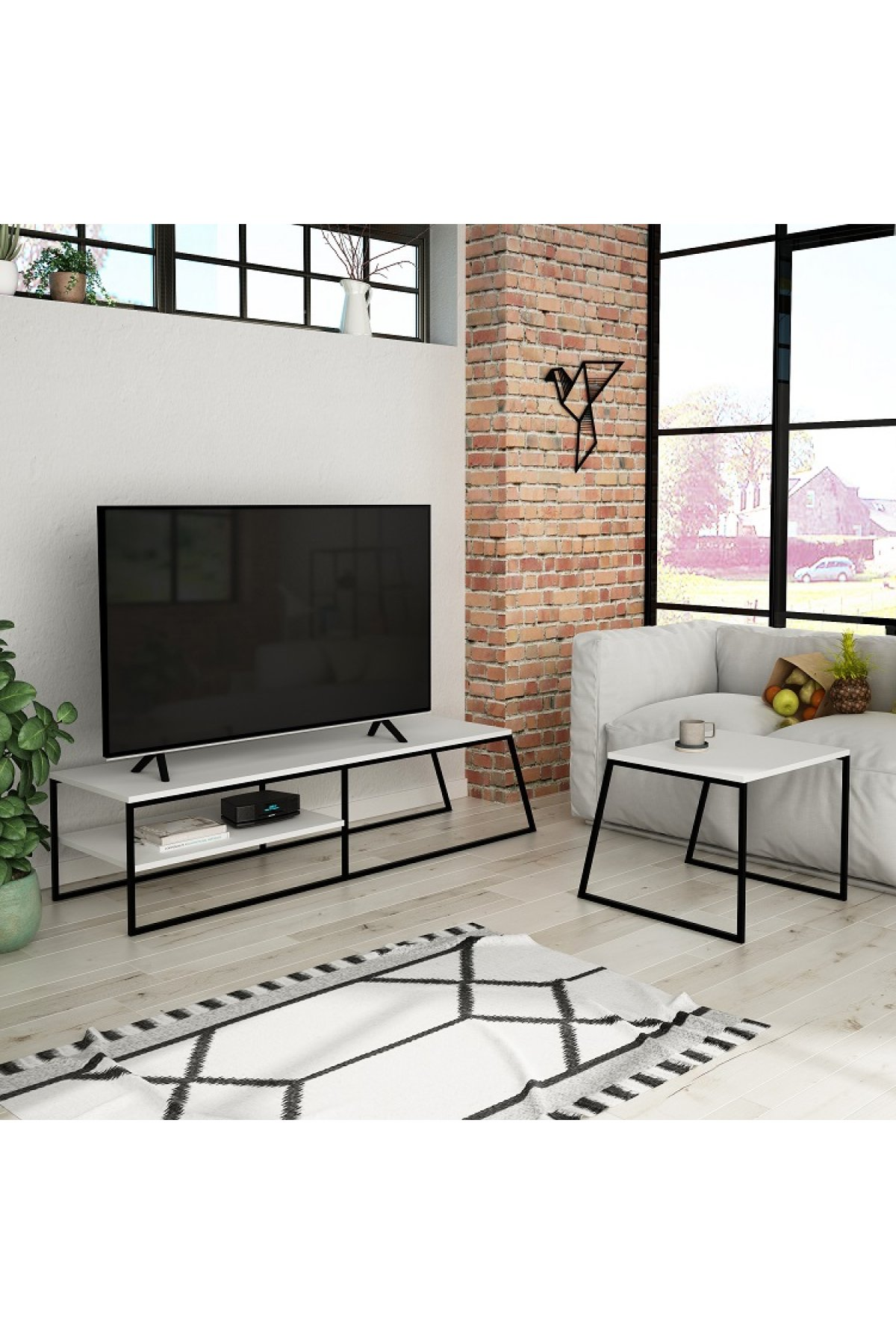 Evsimo Arte TV Sehpası Beyaz
