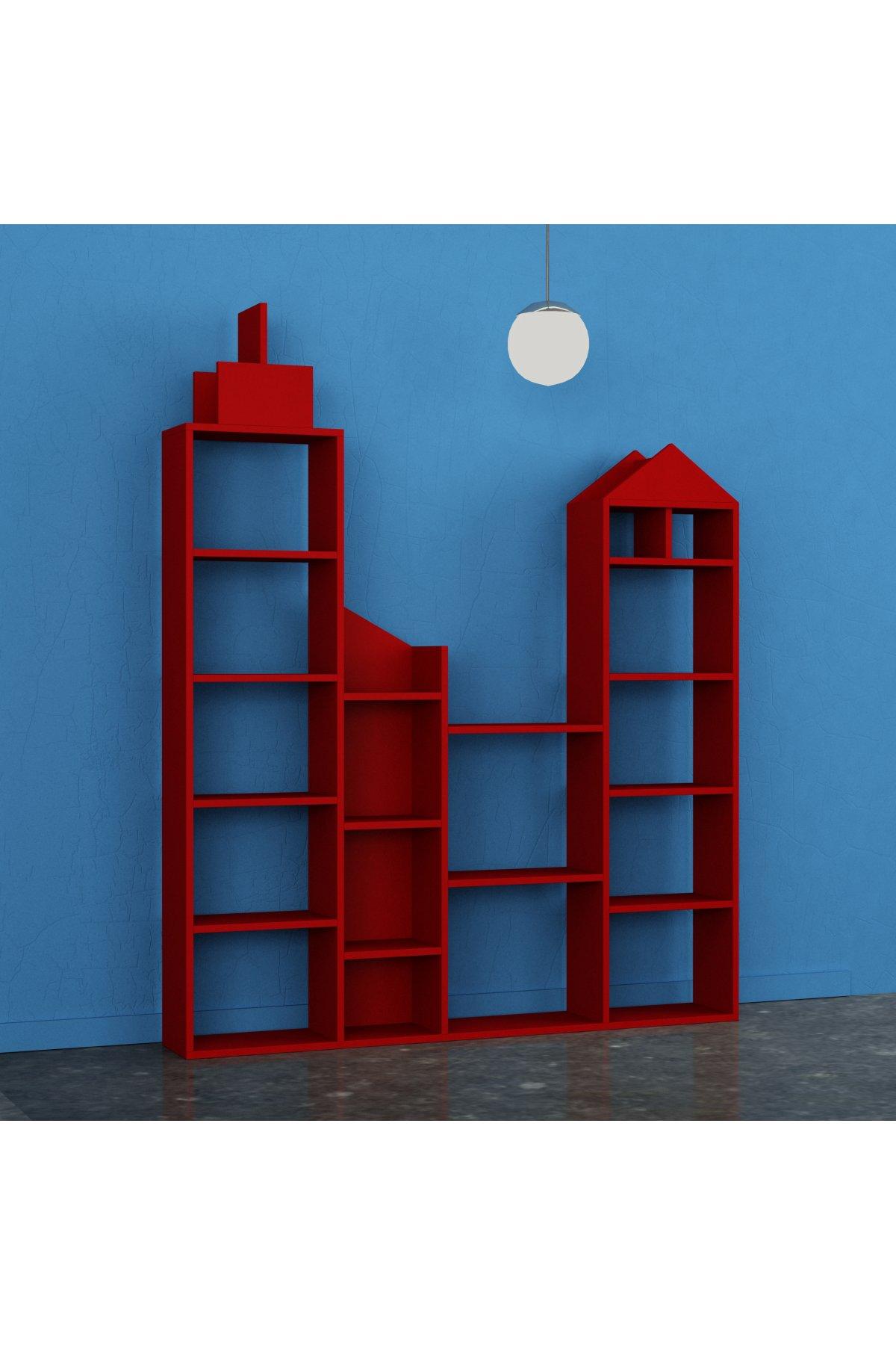 Evsimo City Kitaplık Kırmızı