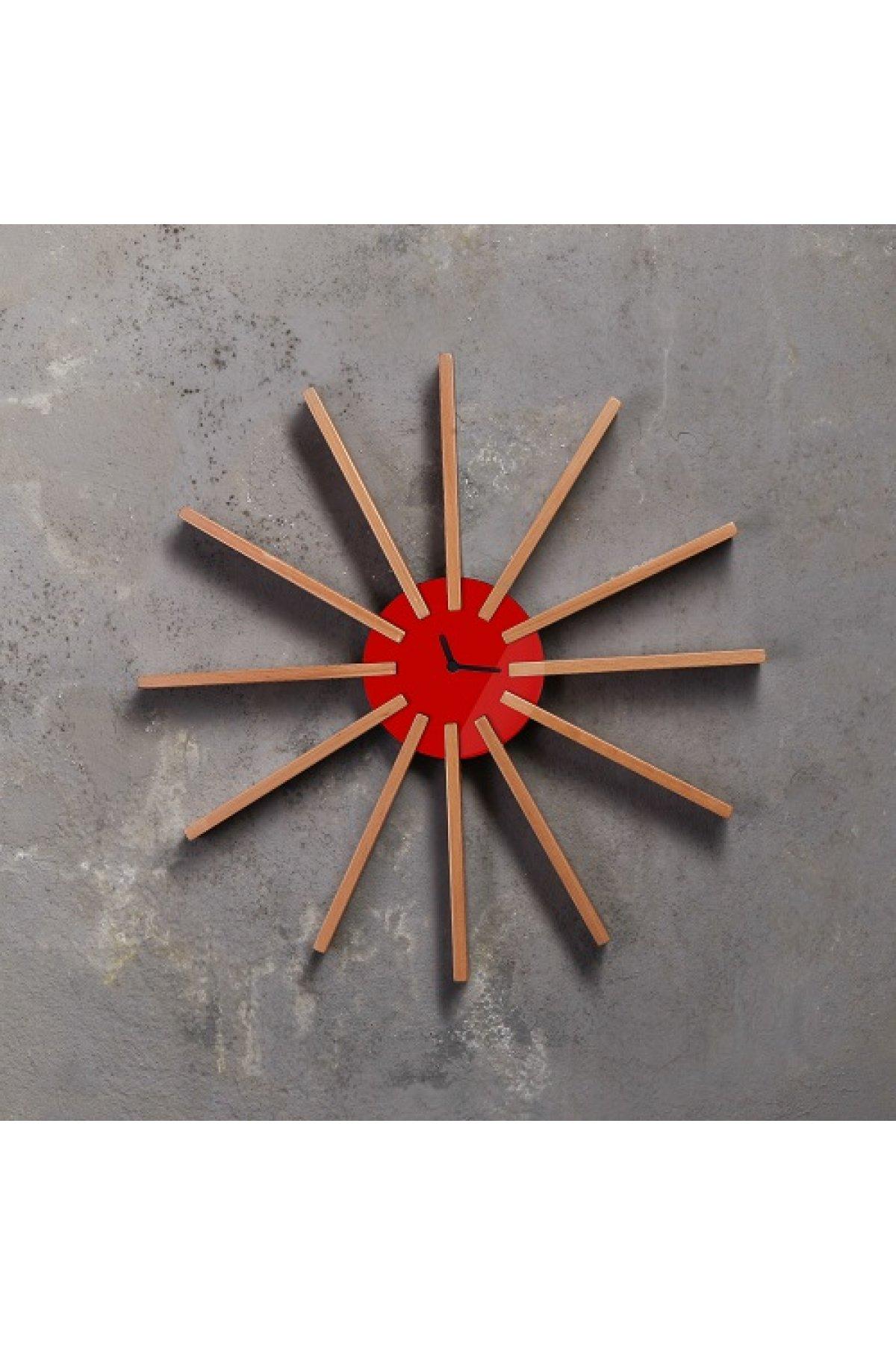 Evsimo Sole Saat Kırmızı