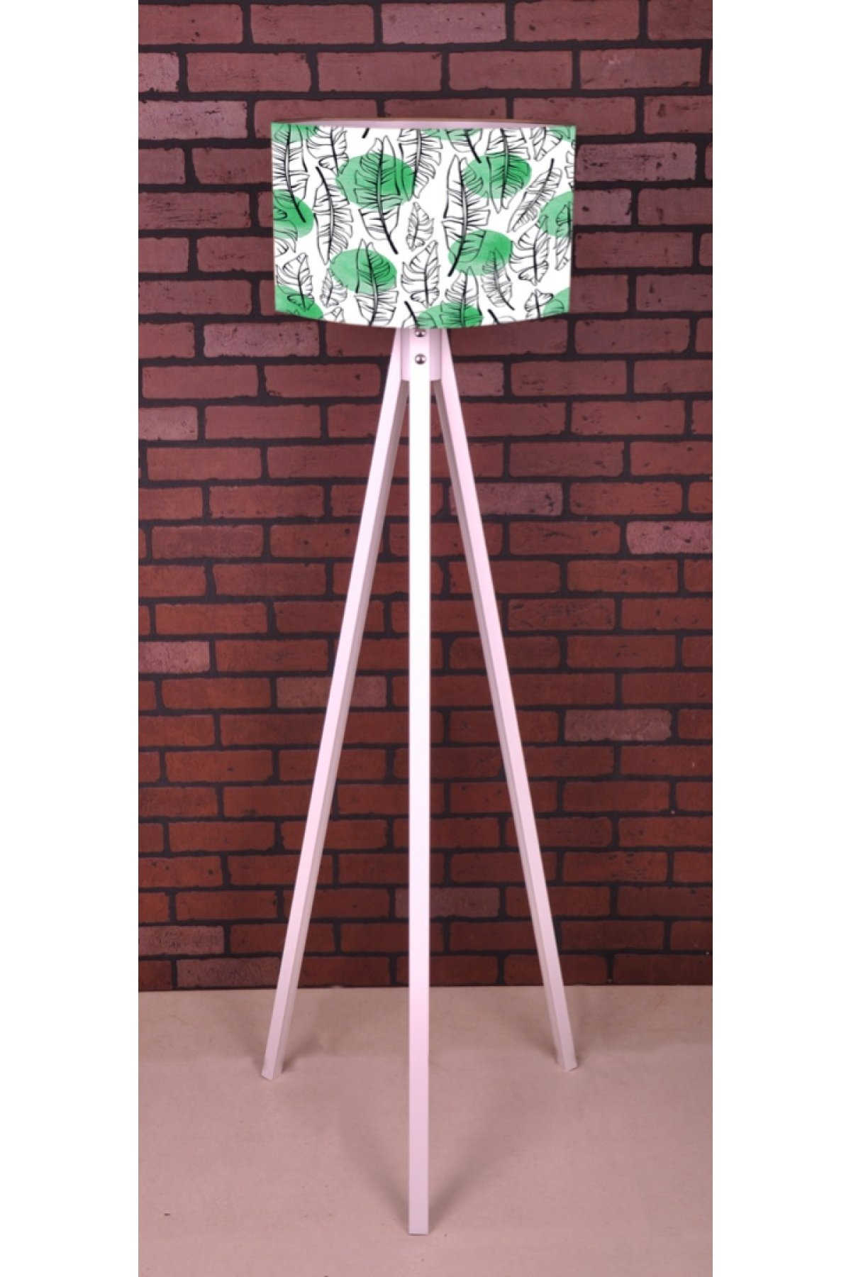Evsimo 3 Ayaklı Tripod Beyaz Yaprak Lambader