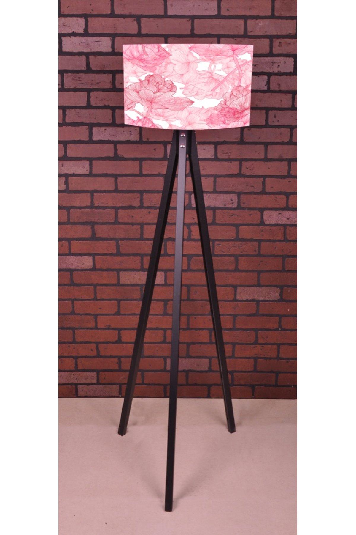 Evsimo 3 Ayaklı Tripod Pembe Çiçek Lambader